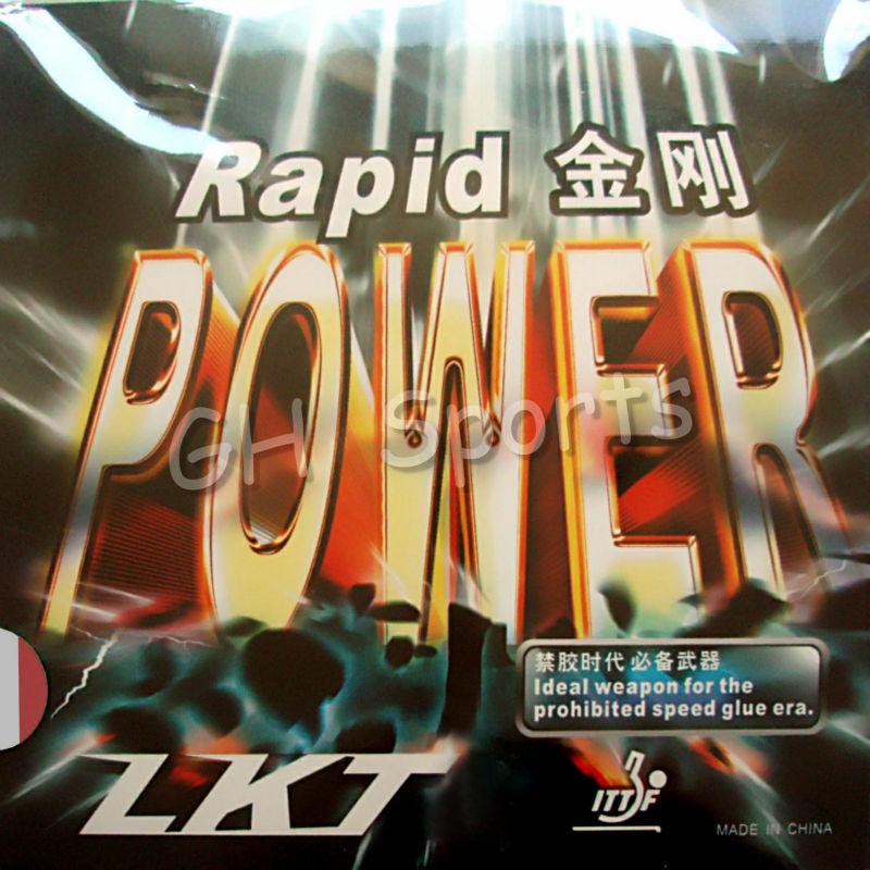 LKT Rapid POWER OFF Pips-In Table Tennis (PingPong) Rubber With Sponge