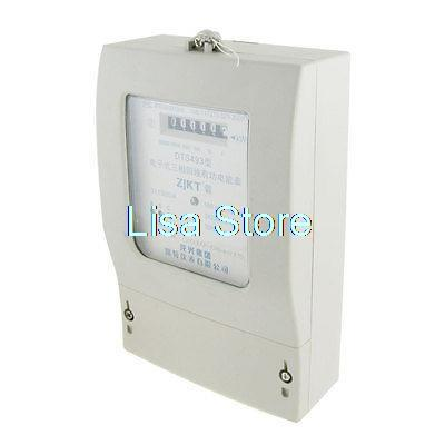 15A AC 220V 380V Three Phase Four Wires Kilowatt Hour Kwh Energy Meter15A AC 220V 380V Three Phase Four Wires Kilowatt Hour Kwh Energy Meter