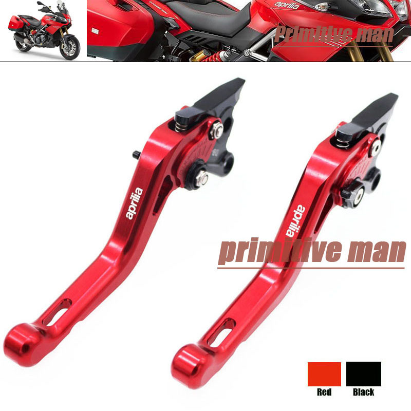 For Aprilia CAPANORD 1200 TUONO / R DORSODURO 1200 Motorcycle Short Brake Clutch Levers Red billet long folding brake clutch levers for aprilia capanord dorsoduro 1200 tuono r 1000 rsv mille r falco sl 1000 dorsoduro 750