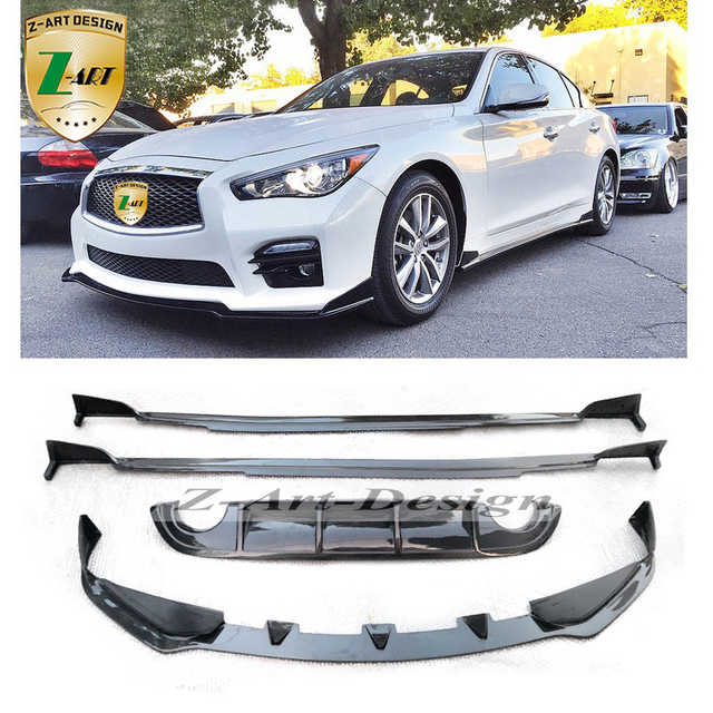 z art car body kit for infiniti q50 2014 2016 carbon fiber rear lip front lip side skirt car. Black Bedroom Furniture Sets. Home Design Ideas