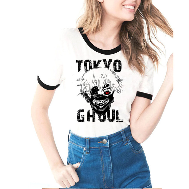Tokyo Ghoul Tshirt Women 2018 Fashion Japan Anime Funny T shirt Female Ladies Summer Tops Ring Sleeve Casual Woman T-shirt 1