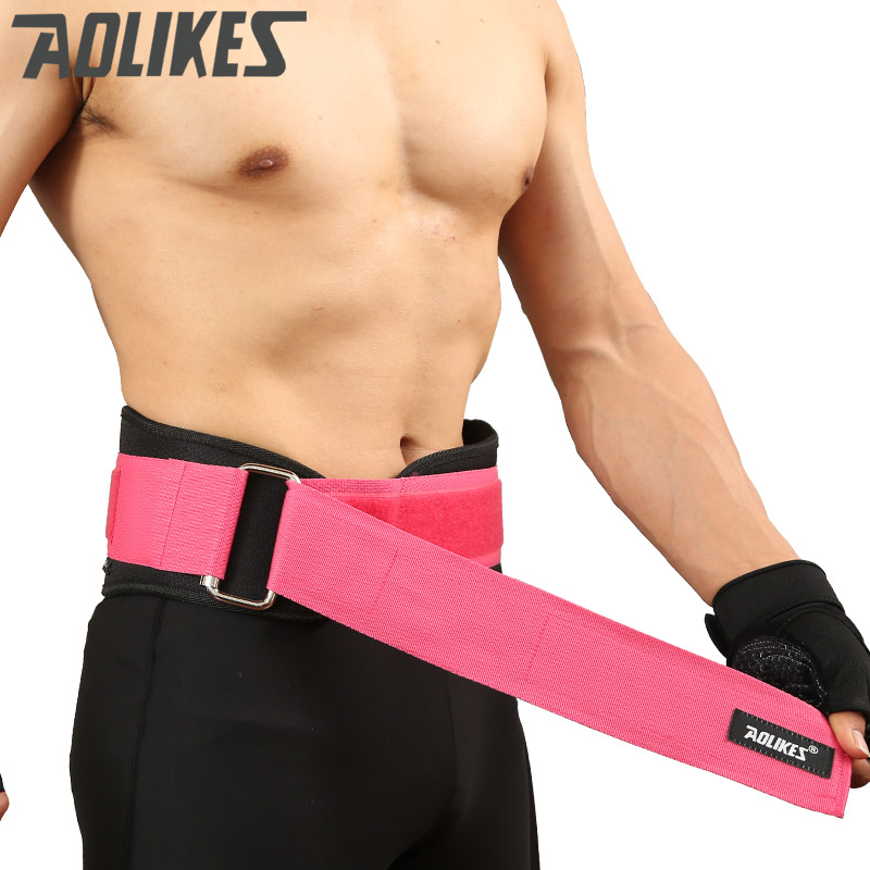 Aolikes sports waist support weightlifting belt fitness gym back