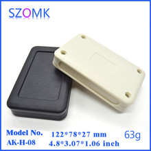 black and white junction box (10pcs) szomk plastic handheld case for diy electrical pcb broad 122x78x27mm