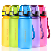 400ml or 500ml Creative New Sports Bottle Food Grade Plastic Leak-Proof Space bottles Brief Portable Shatterproof Water Bottles