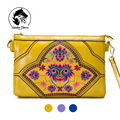 2016 Primavera Nova Marca de moda pequena bolsa de couro mensageiro sacos étnicos bordados sacos nacionais mulheres clutch bag bolsas de ombro