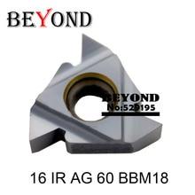 度外部スレッディング挿入刃先交換式旋盤インサート BBM18 ForThreaded IR