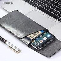 SZLHRSD For Nokia 6 Super Slim Sleeve Pouch Cover Microfiber Stitch Case For Xiaomi Mi Note