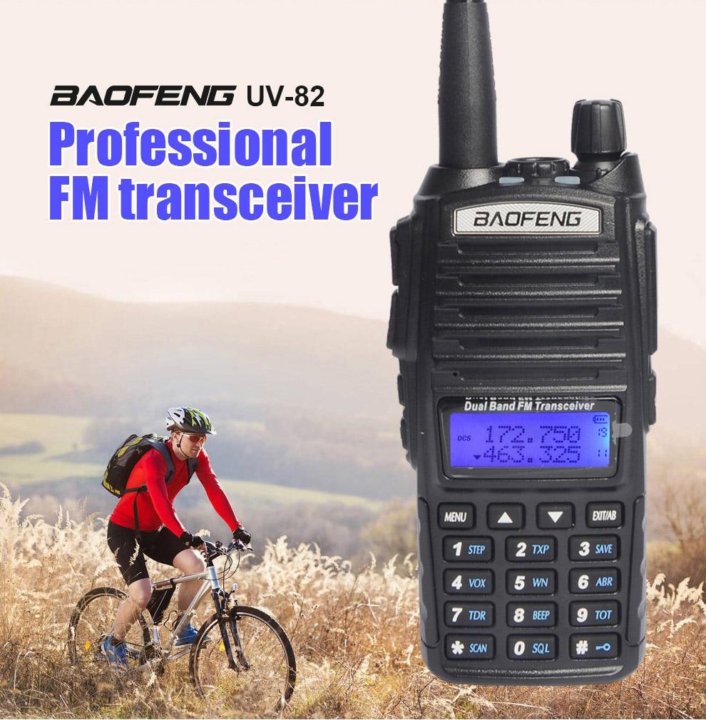 3 set Coppia di Walkie Talkie UV 82 Radio Portatile Scanner Per two way Radio Transceiver Ham Radio per la caccia walkie talkie uv-