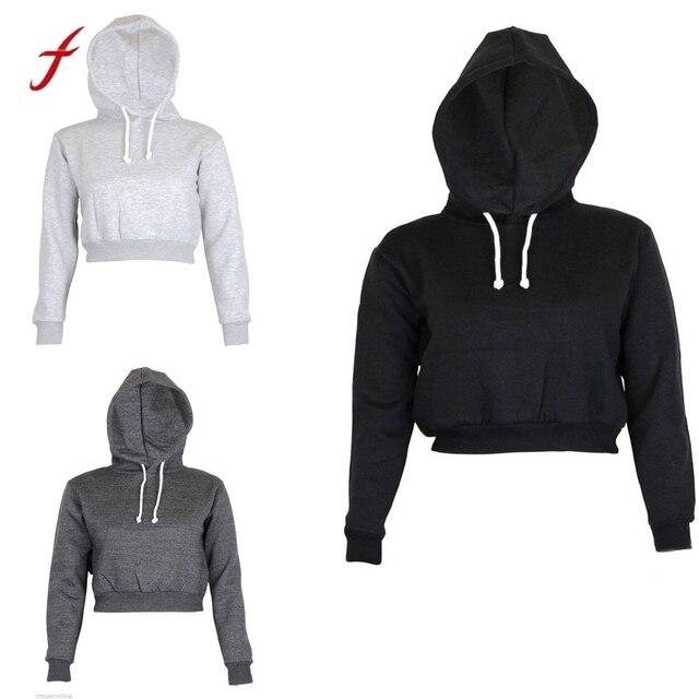 4f0d712fe53d4 high quality brand women hoodies 2019 sexy Loose moletom feminino estampado  Long Sleeve Hooded girl harajuku crop top