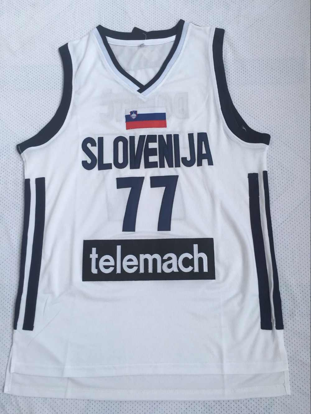Mens  77 Luka Doncic Jersey Basketball Jersey slovenija Team Retro Stitched  Cheap Throwback BASKET Sports c0b3e5d53