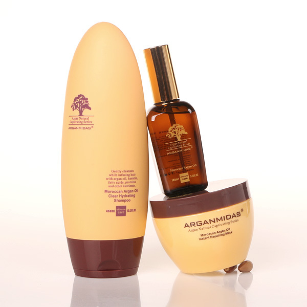 Arganmidas ARGAN oil  Nourishing 450ml hair Shampoo +300ml hair mask+ 100ml ARGAN oil  Hair Care Best hair salon product