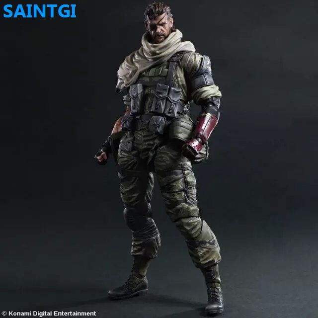 SAINTGI Metal Gear Solid V The Phantom Pain Venom Snake PVC 23CM Action Figure Collection Game Model Dolls Kids Toys  kai 25cm play arts kai metal gear solid 5 the phantom pain quiet venom snake pa pvc action figure doll toys kids gift brinquedos