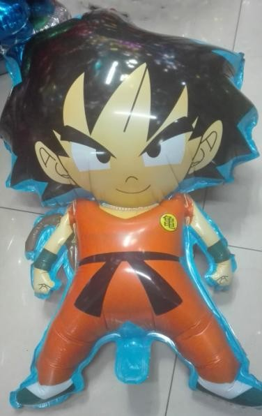 2stk 78 * 45cm 7 Dragon Ball z-bold Z Son Goku oppustelig ball0on d22