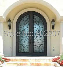 Hench 100% Steels Metal Iron Patio Doors With Transom