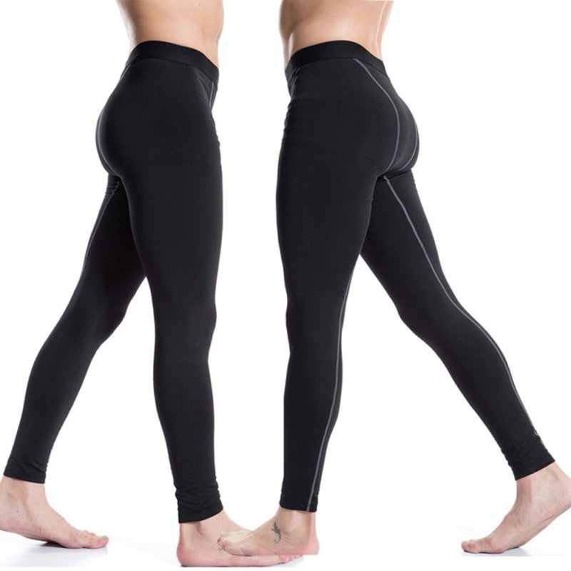 c46f220770 Men Compression Long Pants Sport Running Training Base layer Underwear Sports  Trouser Athletic Fitness Pants