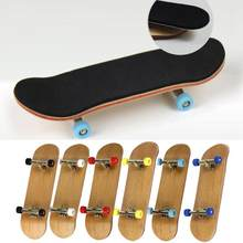 9.7 * 3 cm PU Maple Wood Cute Party Favor Kids Children Mini Fingerboard Key Skate Boarding Toys 6 Color(China)