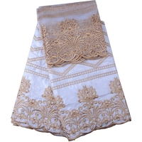 White Color African Lace Fabric African Bazin Riche Fabric High Quality Bazin Riche Getzner With Pearls For Women Wedding 735