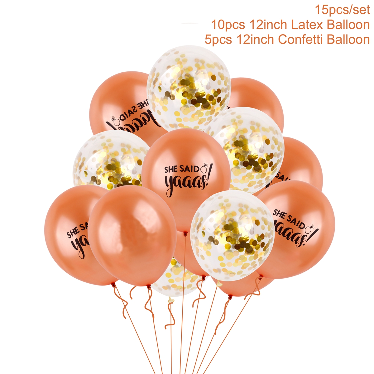 Engagement Valentine 15pc Love Balloons Foil /& Confetti Party Decor Wedding