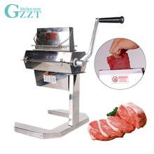 Stainless Steel Heavy Duty Manual Meat Tenderizer For Pork Steak With Support Frame 11*2 15*2 27*2 Knifes 5 Wide MTS5