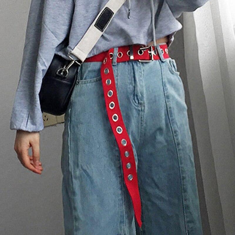 Verano cinturones nylon redondo metal hebilla dot agujero ajustable del deporte al aire libre moda sólido pretinas pareja regalos cinturón correas