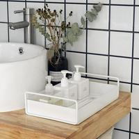 Nordic Minimalist Home Storage Tray Afternoon Tea Cosmetics Desktop Wrought Iron Tray Organizer Wedding Dessert Decoration