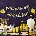 You are My Sunshine декоративный подвесной Блестящий Золотой баннер, гирлянда на лето для детского душа, вечерние товары для дня рождения