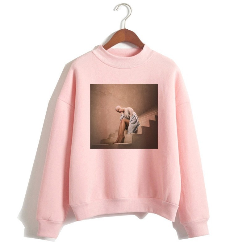Women Print God Is A Woman Sweatshirts Pullover Hoodies Harajuku Ariana Grande Sweatshirt No Tears Left To Cry Hoodie