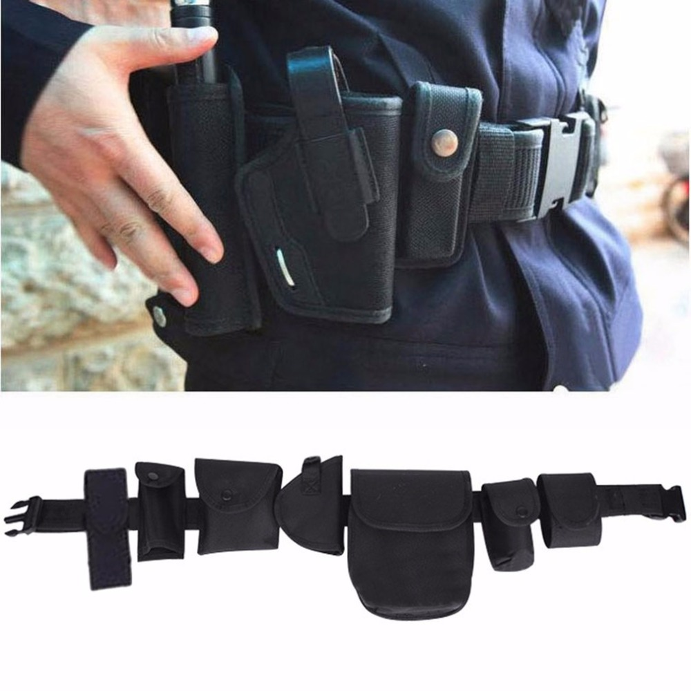LESHP Tactical military Waist Belt security guard belt durable canvas thick waterproof waist strap bag for army equipment security mail bag w lockable belt closure 18w x 30h