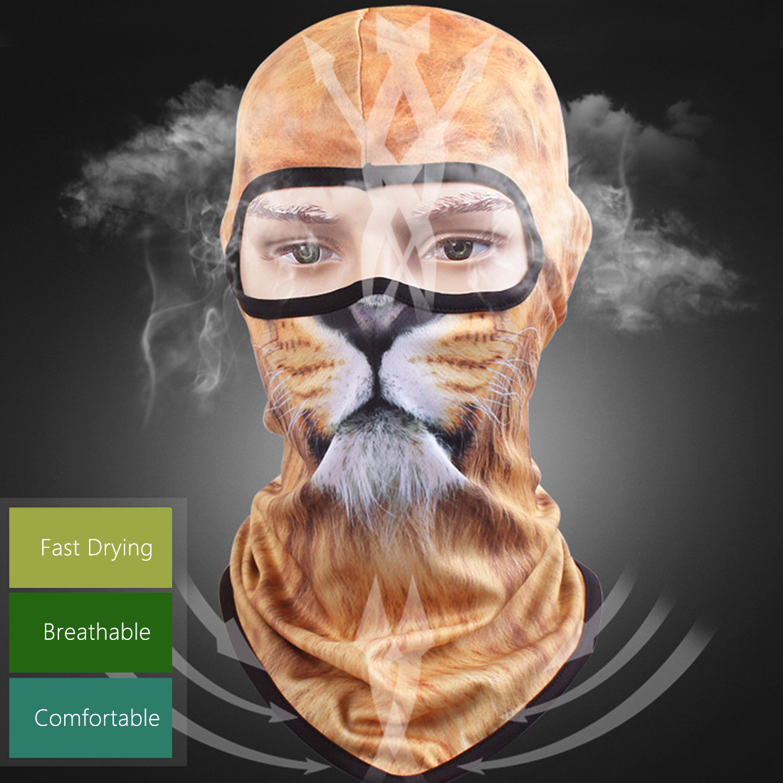 2018 Hot Sale  Personality New 3D Cat Dog Animal Ski Hood Hat Balaclava Full Face Mask Outdoor Sports Bicycle Cycling Masks