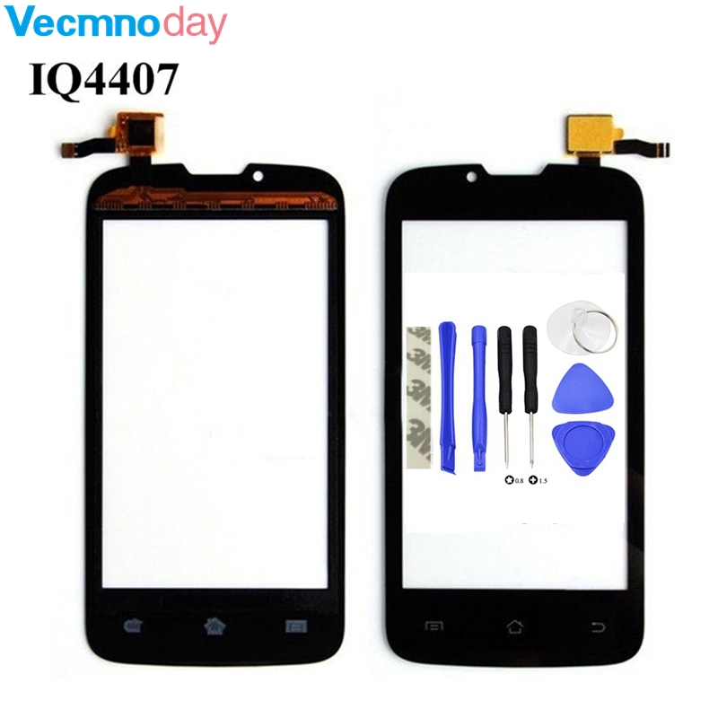 Vecmnoday Phone Touch Screen For Fly IQ4407 IQ 4407 ERA Nano 7 Touch Panel Sensor HD Front Glass Panel Lens Digitizer+tools
