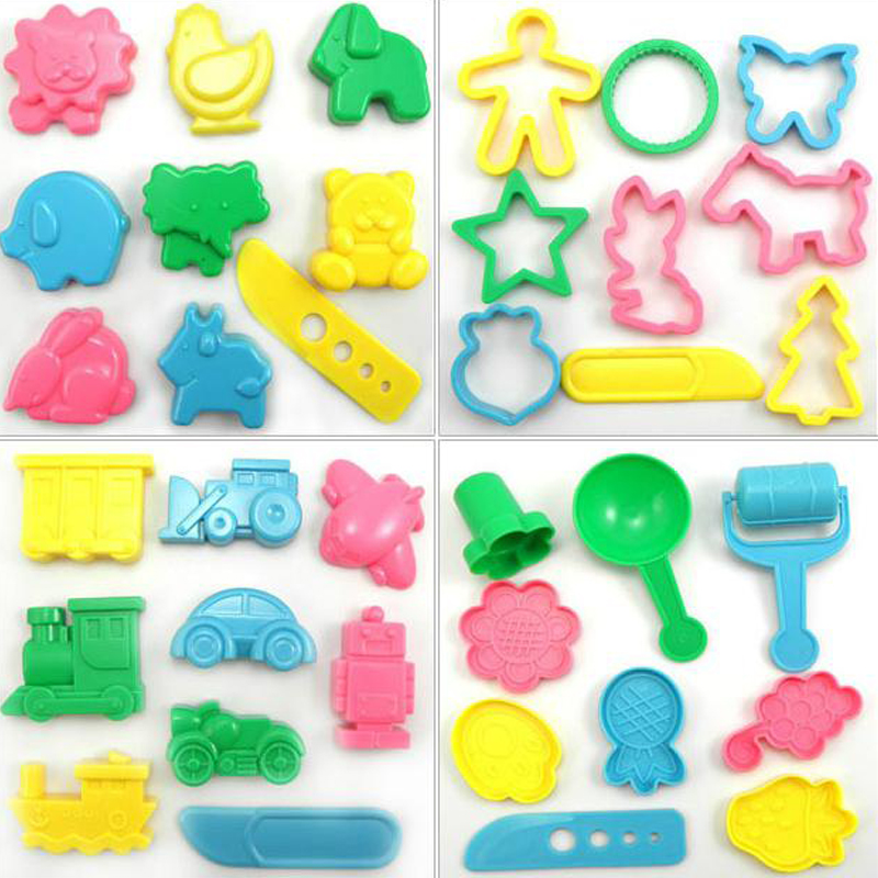 36pcs/lot slime Tools Color Play Dough Model Tool Toys Creative 3D Plasticine Tools Playdough Set Kit Children's Gift Toy playdough clay dough ice cream mould play kit educational play doh plasticine diy toy