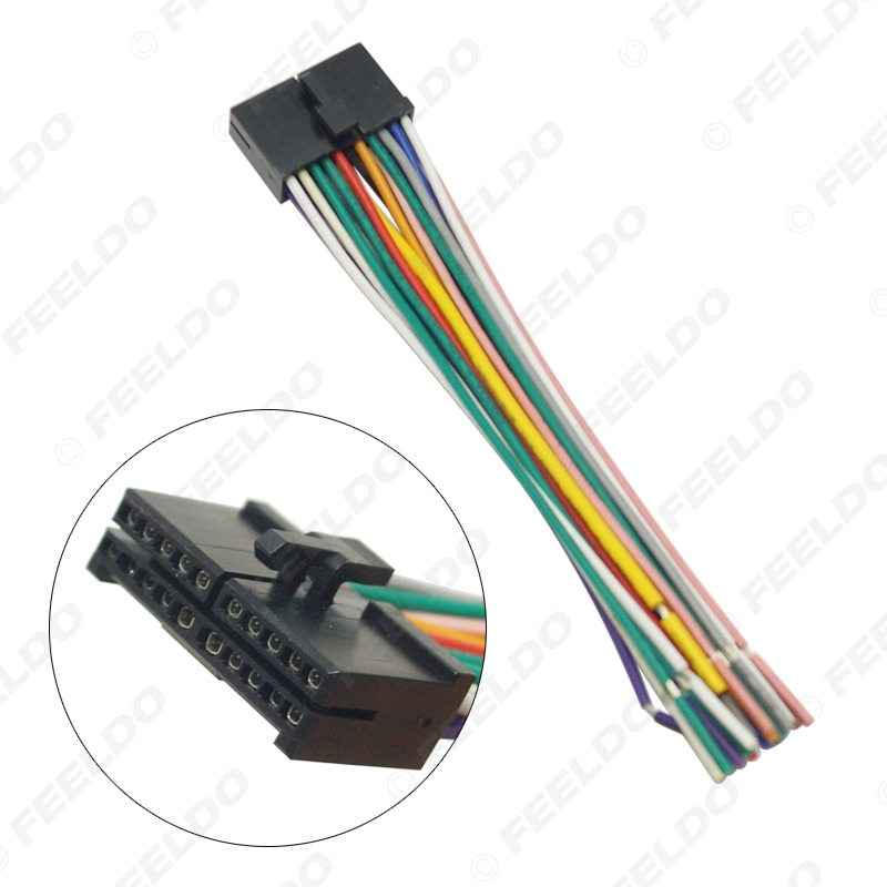 US $2.2 24% OFF|FEELDO 20Pin Universal Aftermarket Car Head Unit DVD Universal Car Stereo Wiring Harness on car stereo cover, car stereo with ipod integration, car stereo sleeve, car stereo alternators, car wiring supplies, leather dog harness, 95 sc400 stereo harness, car fuse, car speaker,
