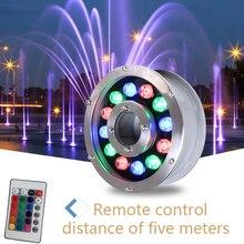 Светодиодный светильник для фонтана 6 Вт 9 Вт 12 Вт 18 Вт Светодиодный светильник для бассейна AC12V AC24V подводный светильник s фонтаны водонепроницаемый Ip68
