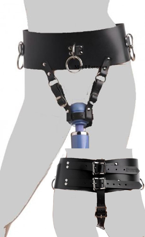 BDSM Bondage Restraints Strap,Leather Chastity Forced