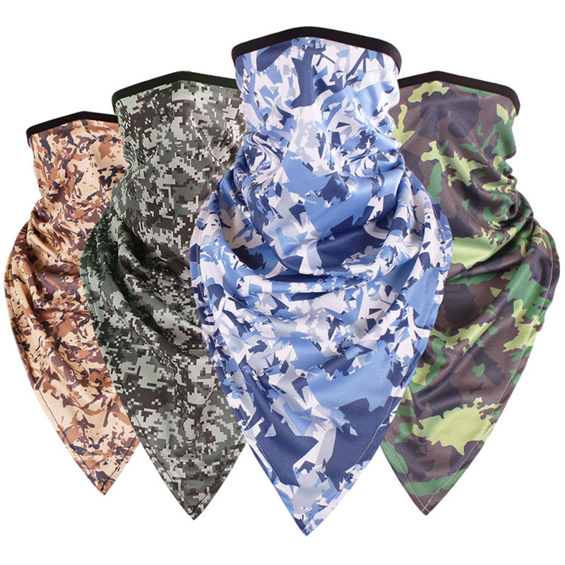 Creative Camouflage Magic Scarf Bandana Unisex Triangle Scarves Fashion Multifunction Army Tube Neck Face Mask Bicycle Scarf