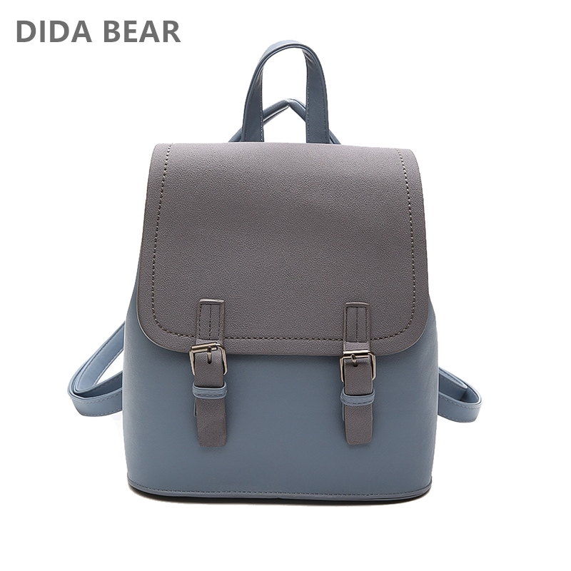 DIDABEAR Marca Leather Small Backpack Mujeres Mochilas Femeninas - Mochilas - foto 2