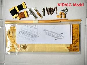 Image 5 - Spanish Baltimore Schooner Ship model building Kits Halcon Retro cannons luxurious sailboat model Offer English Instruction