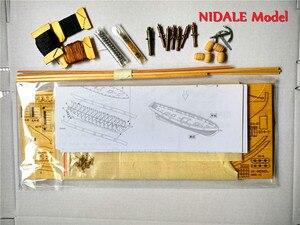 Image 5 - İspanyolca Baltimore Schooner gemi modeli yapı kitleri Halcon Retro topları lüks yelkenli modeli İngilizce talimat