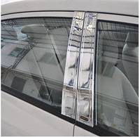 CHROME PILLAR POST 6PCS For Toyota Corolla Sedan 2009 2010 2011