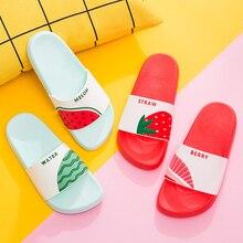 5956d768c350 Women Summer Slippers Cute Fruits Watermelon Strawberry Soft Sole Beach  Slides Indoor   Outdoor Slippers Sandals