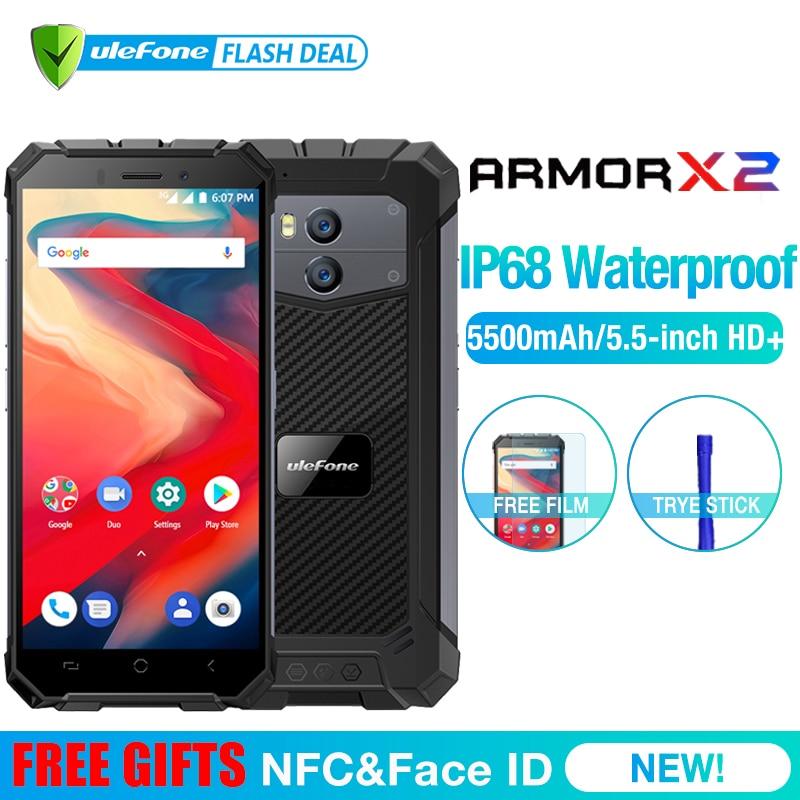 Ulefone Armadura X2 IP68 3G Smartphones À Prova D' Água 5.5