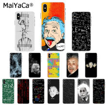 MaiYaCa e mc2 E = mc Mathematik Albert Einstein Bunte Nette Telefon Fall für iphone SE 2020 11 pro 8 7 66S Plus X XS MAX 5S SE XR(China)