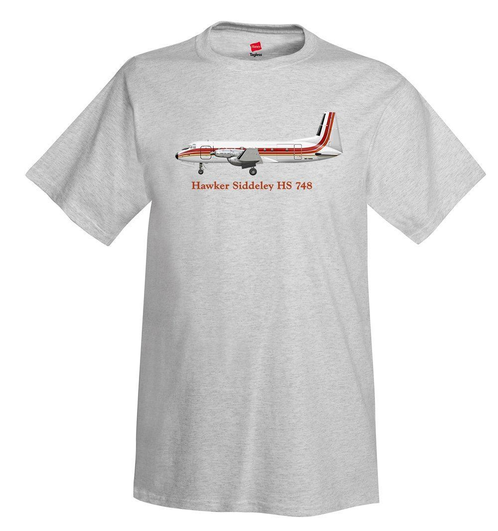 2018 Fashion 100% Cotton Top Solid Color Hawker Siddeley Hs 748 Airplane T-Shirt - Personalized With Your cotton Tee Shirts