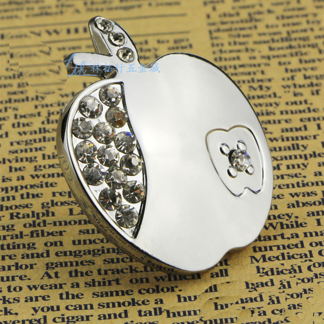Bling Dekorative Kristall Kommode Knob Silber Apple Schublade Ziehen ...