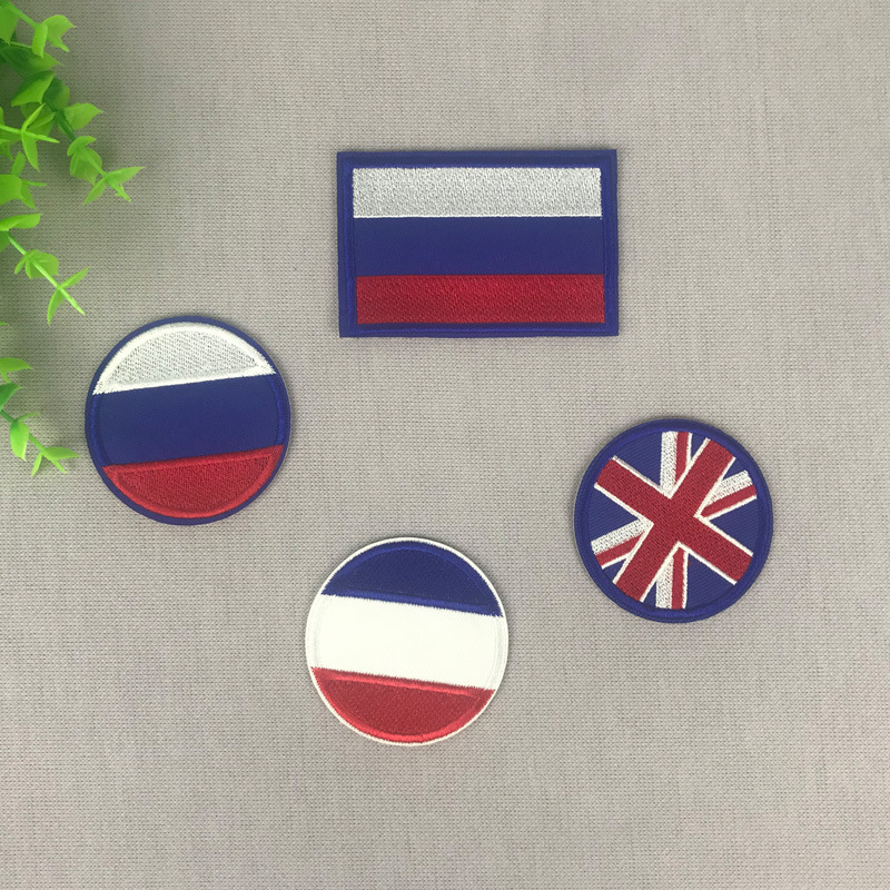 France and USA Flags Patch Iron on