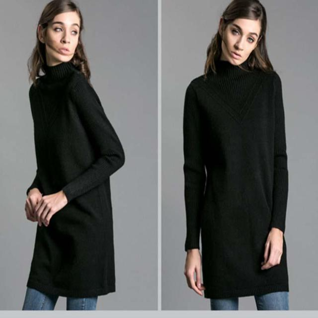 Women Casual Tops Pullovers  Knitting Long Sweater Loose  Top Half A Turtle Neck Long Sleeve Slim Warm High Quality