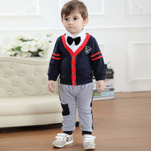 Kids Clothes Wedding Suit for Boy Formal Jacket Suits Boys Spring Long Sleeve Tie Bow Bow Tie Boy Clothes Set Coat +shirt+pant недорого