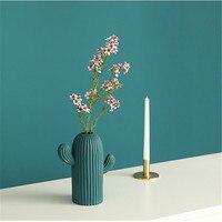 Modern Style Vase Table Living Room Decoration Ceramic Creative Cactus Ornaments Flower Arrangement