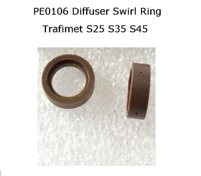 PT-40 PT-60 IPT-40 Swirl Ring PE0106 2pcs S25 S35 S45 CUT55 Diffuser  For Trafimet Plasma Torch ERGOCUT