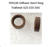 S25 S35 S45 Diffuser Swirl Ring PE0106 2pcs for Trafimet Plasma Torch ERGOCUT 1pcs plasma cutter s45 torch trafimet consumables gas diffuser gas ring pe0106